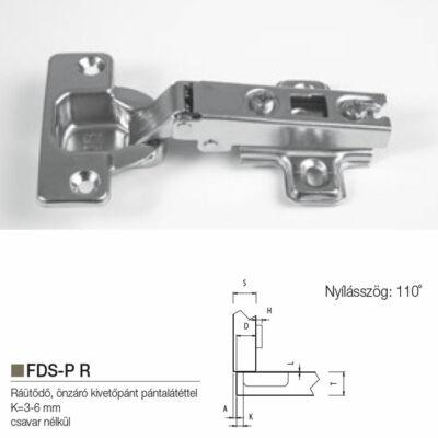 Kivetőpánt Ráütödő FDS-P R 110°