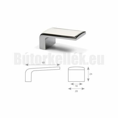 Bútorfogantyú TACA Króm-Fehér 16mm