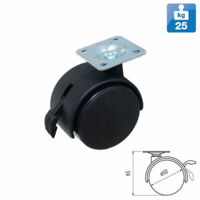 Bútorgörgő P-04Q Fekete
