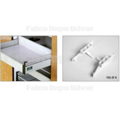 Fiókcsúszó FDS-BFR D Előlaprögzítő belső fiókoldalhoz fehér