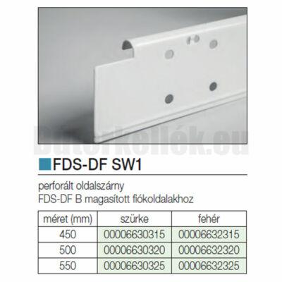 Fiókcsúszó FDS-DF SW1 Oldalszárny 500mm Fehér