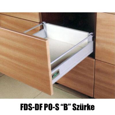 Fiókcsúszó FDS-DF PO-S B Duplafalú Push Open 450 mm 40kg Szürke