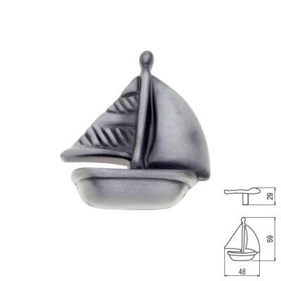 Fogantyú RF 1884-48 ZN50 Vitorlás gomb Antik ezüst