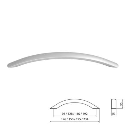 Fogantyú A021-192 Aluminium