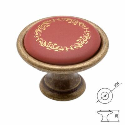 Fogantyú P07-21-22-DIG Antik firenze-bordó-aranykoszorú porcelán Átm-:34mm