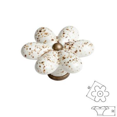 Fogantyú P23-10-00-04 Antik bronz kőmintás porcelán Átm-:55mm