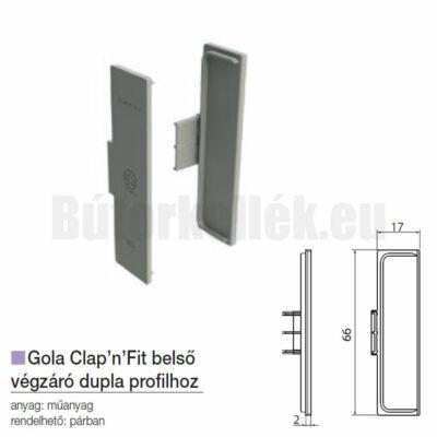 Fogantyú profil GOLA Clap'N'fit belső végzáró dupla profilhoz Alumínium