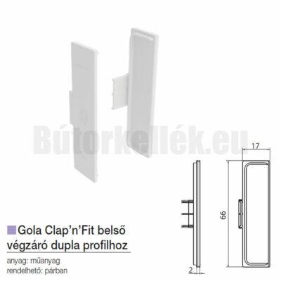 Fogantyú profil GOLA Clap'N'fit belső végzáró dupla profilhoz Fehér