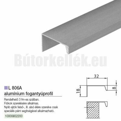 Fogantyú profil L806A Alumínium 3000mm