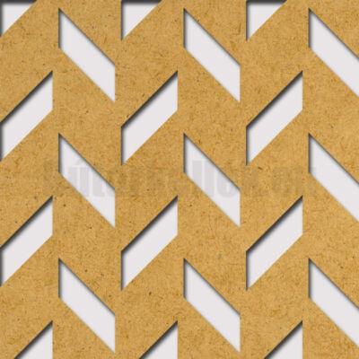 Perforált lemez Grezzo natur Hdf ERBE perforációval 1520x605x3mm