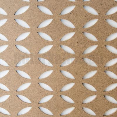 Perforált lemez Grezzo natur Hdf FARFALLE perforációval 1520x605x3mm