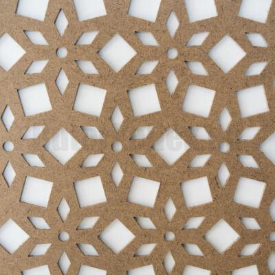 Perforált lemez Grezzo natur Hdf LILY perforációval 1520x605x3mm