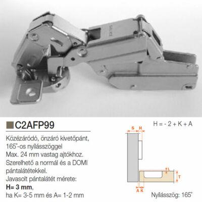 Bútorpánt C2AFP99 165° közézáródó