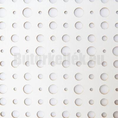Perforált lemez Laccato-Hdf ARIEL Krono 101 Fehér 1400x510x3mm