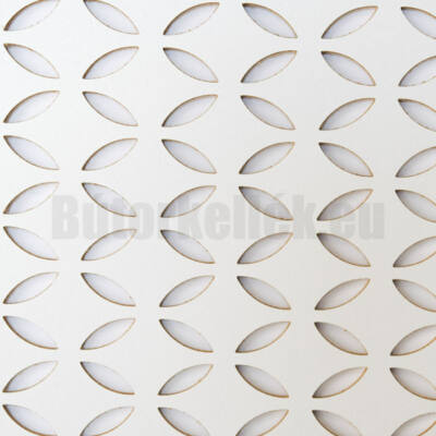 Perforált lemez Laccato-Hdf FARFALLE Krono 101 Fehér 1400x510x3mm