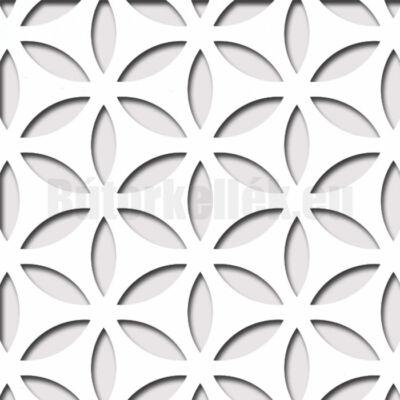 Perforált lemez Laccato-Hdf HANNA Krono 101 Fehér 1400x510x3mm