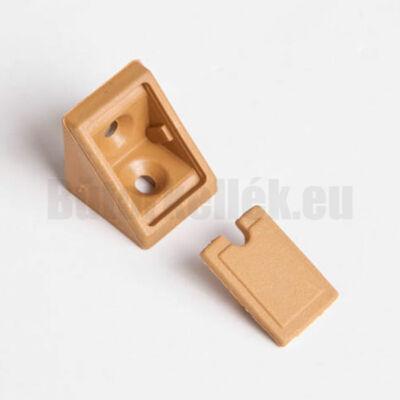 Polcrögzítő műangyag21x21x20mm Drapp