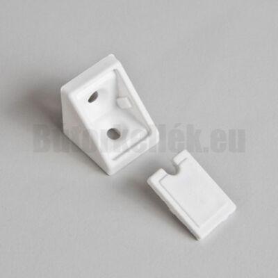 Polcrögzítő műangyag 21x21x20mm Fehér