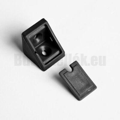 Polcrögzítő műangyag 21x21x20mm Fekete