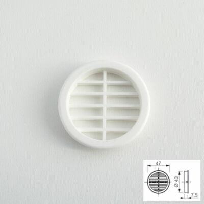 Szellőzőrács 443 Kör alakú Fehér