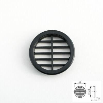 Szellőzőrács 443 Kör alakú Fekete