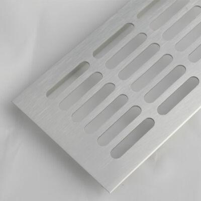 Szellőzőrács szögletes 100x400mm Alumínium