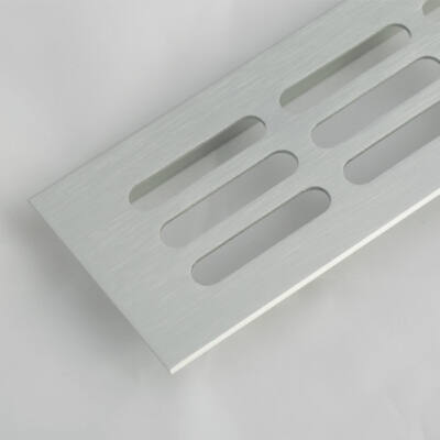 Szellőzőrács 100x250mm Alumínium
