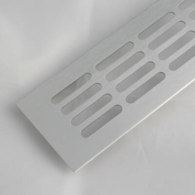 Szellőzőrács szögletes 80x1000mm Alumínium