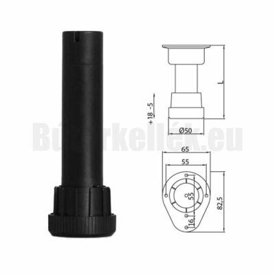 Szintezőláb 1031 A 120 Serie31 120mm fekete