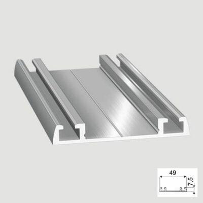 Tolóajtó Cleft alsó Sín 2m Alumínium