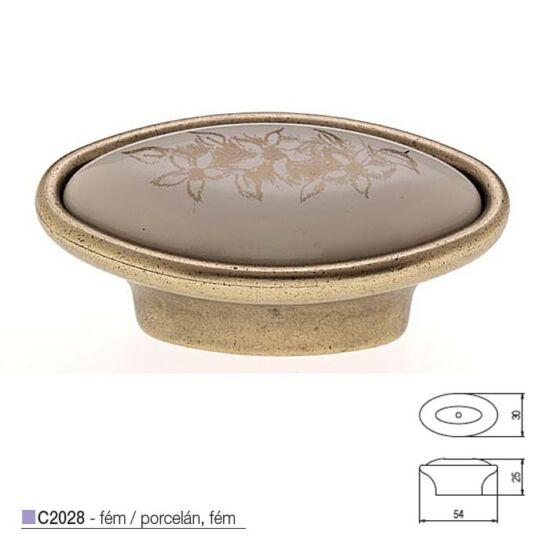 Fogantyú C2028-23-O 54 M-bronz-a-virág