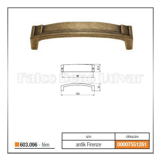 Fogantyú 603-096-00D1 96 Antik firenze