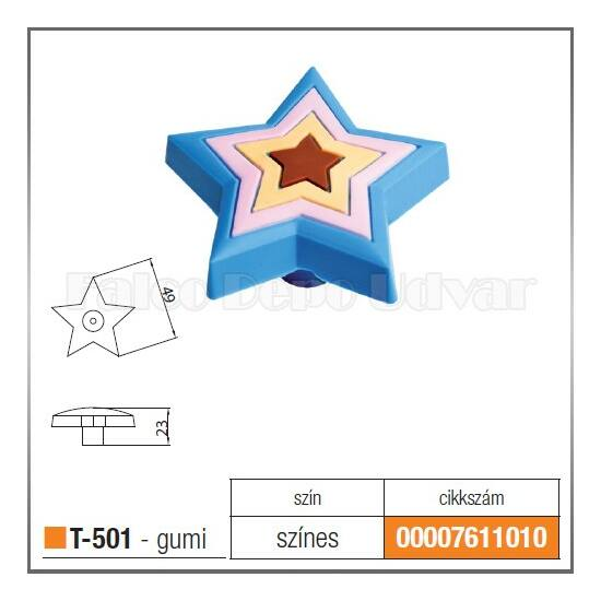 Fogantyú T-501 gomb Csillag