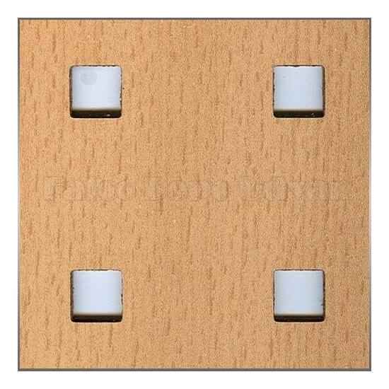 Perforált lemez Laccato Hdf Quadro 11-45 381 Bükk 1400x510x4mm