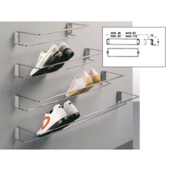 Gardrób cipőtartó 116-A 830-1130mm Króm