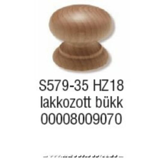 Fogantyú S 579-35 gomb Bükk lakk.