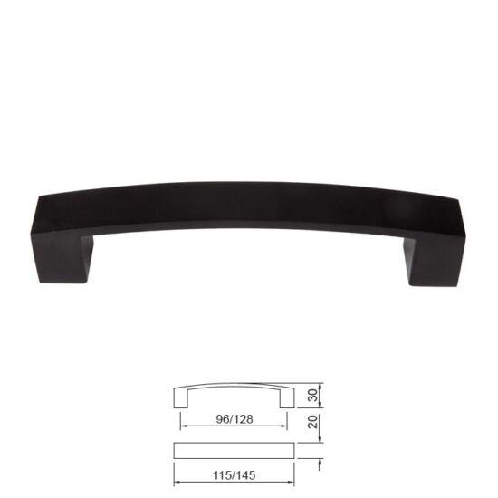 Fogantyú E078-128 Fekete