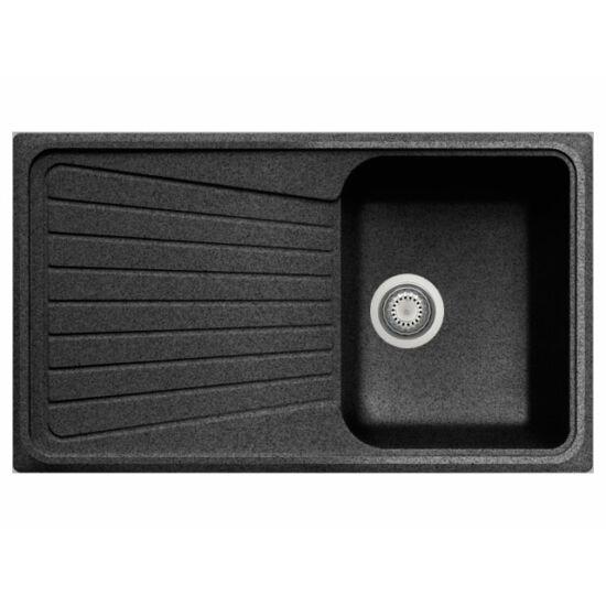 GRAWA PT3-8610N FEKETE gránit mosogató 860x500mm