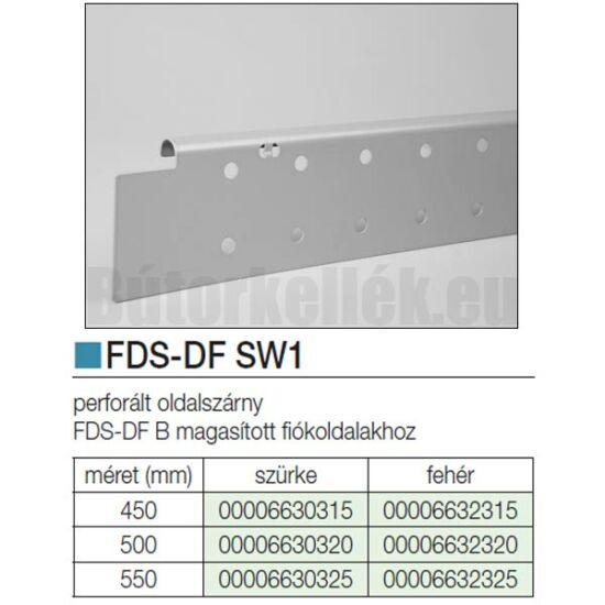 Fiókcsúszó FDS-DF SW1 Oldalszárny 450mm Szürke