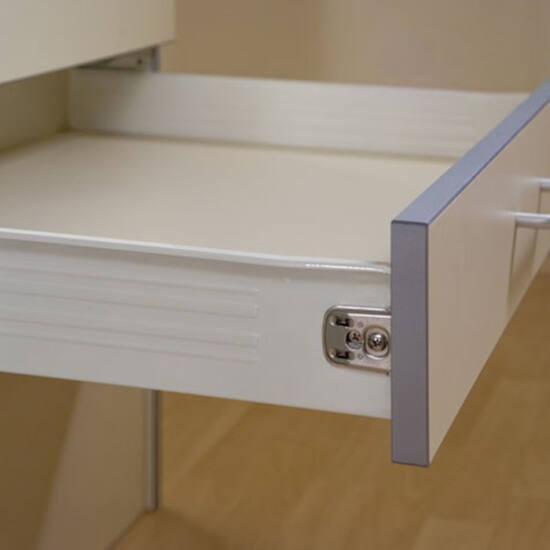 Fiókcsúszó FDS-FF 118 Fém fiókoldal 118x500mm fehér