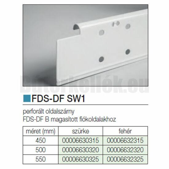 Fiókcsúszó FDS-DF SW1 Oldalszárny 550mm Fehér
