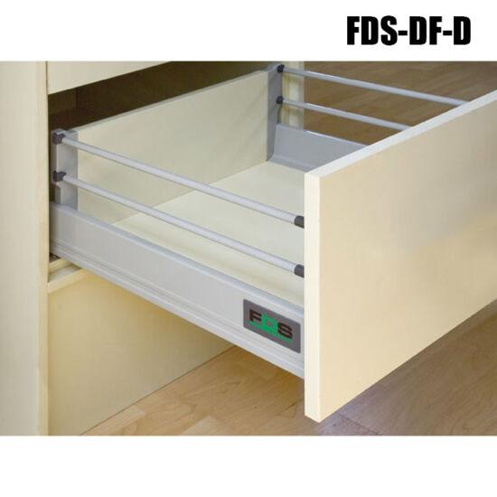 Fiókcsúszó FDS-DF D 500mm duplafalú fiókoldal 2 magassítóval Szürke 40kg