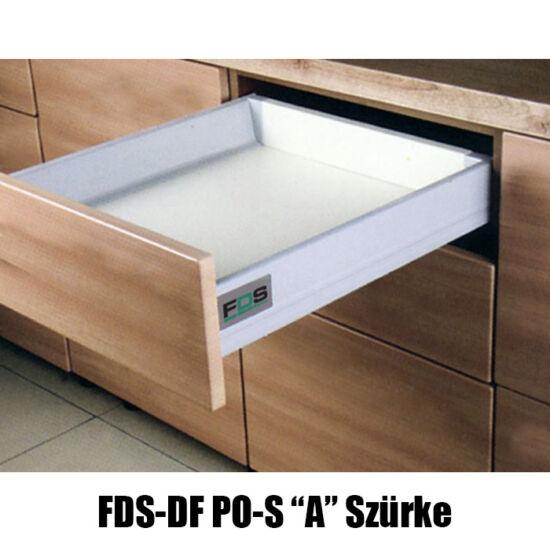 Fiókcsúszó FDS-DF PO A Duplafalú Push Open 500mm 40kg Szürke