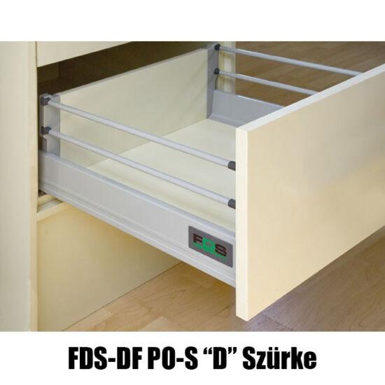 Fiókcsúszó FDS-DF PO-S D Duplafalú Push Open 500 mm 40kg Szürke
