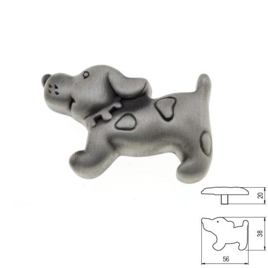 Fogantyú RF 1885-56 ZN50 Kutya gomb Antik ezüst