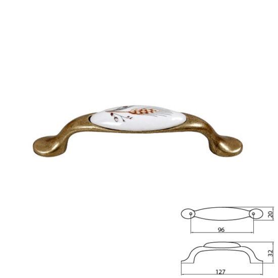 Fogantyú E052-96 Antik bronz-buzakalász