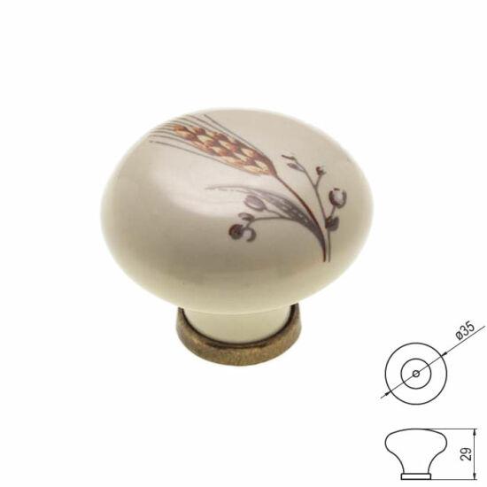 Fogantyú RF P03-01-81-04 átm-:36 Antik bronz-buzakalász