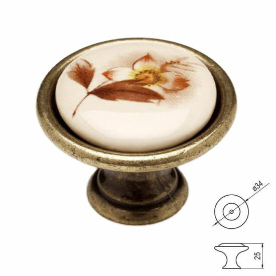 Fogantyú P07-01-02-04 Antik bronz-barna