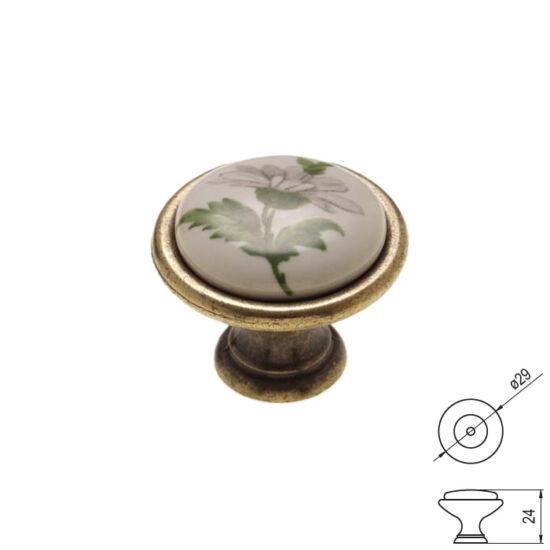 Fogantyú P08-01-20-04 Antik bronz-zöld