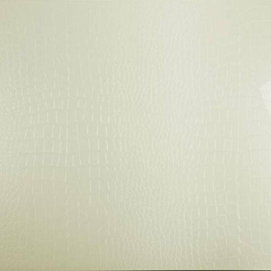 Konfekcionált PVC bútorajtó lap FP0507 Fényes Krém Krokodil mintás